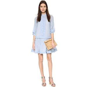 See by Chloe 8 medium Drop Waist Shirtdress Blue